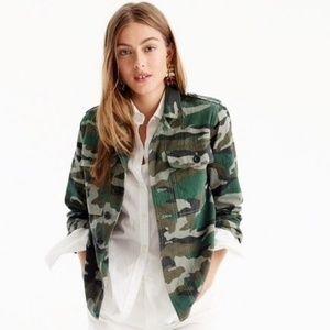 J. Crew Camo Utility Shirt Jacket
